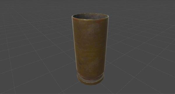 3D bullet shell model