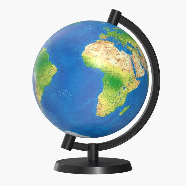 3D model corona globe