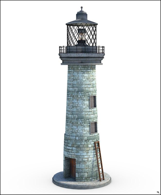 3D lighthouse light
