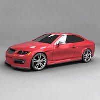 3D car sportscar auto model