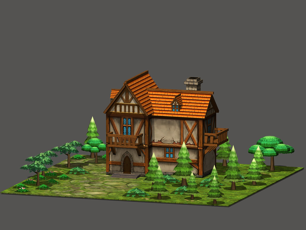 3D cartoon fantasy house
