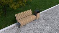 bench madrid 1500 3D model