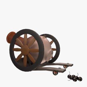 cannon wheel 3D