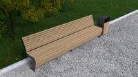 3D model bench madrid 3000