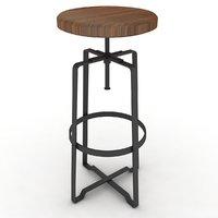 3D industrial stool model