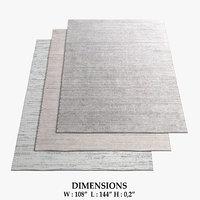 3D model restoration hardware rugs 60