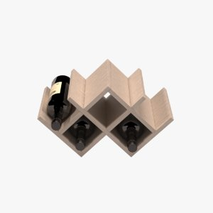 bottles wine rack model