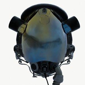 3D pilot helmet