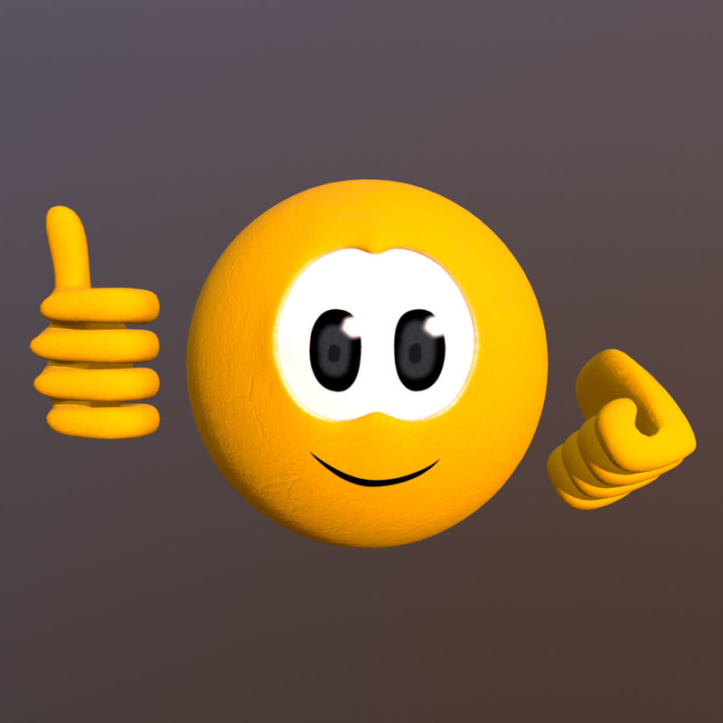 emoji emoticons 3D model