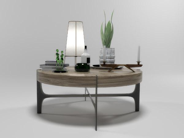 decorative set 1504 natuzzi 3D model