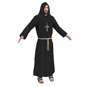 priest male man 3D