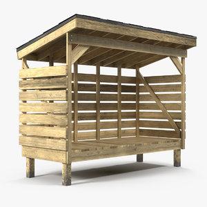 firewood storage 3D
