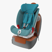 Child Seat on Passenger Seat 3D Model
