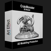 Crab Monster 3D Modelling