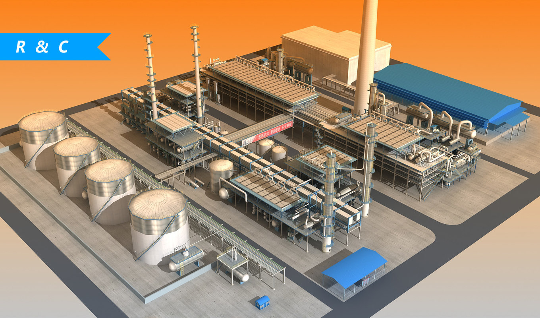 3D refinery industry refining model