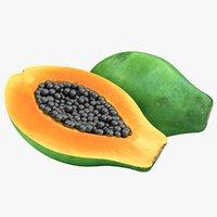 3D realistic papaya