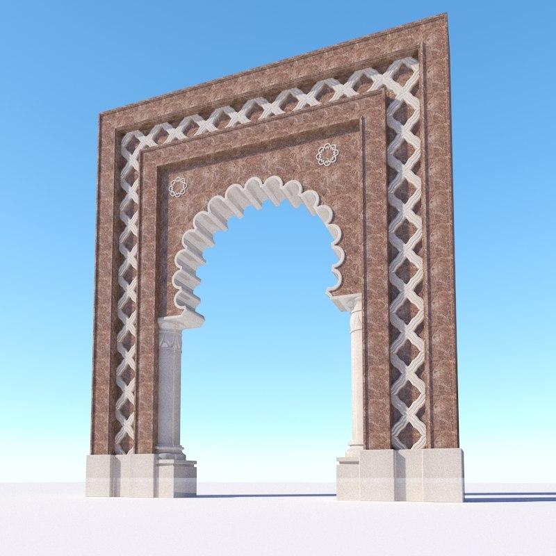 oriental islamic arch 3D model