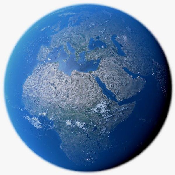 3D realistic earth photorealistic 4k model