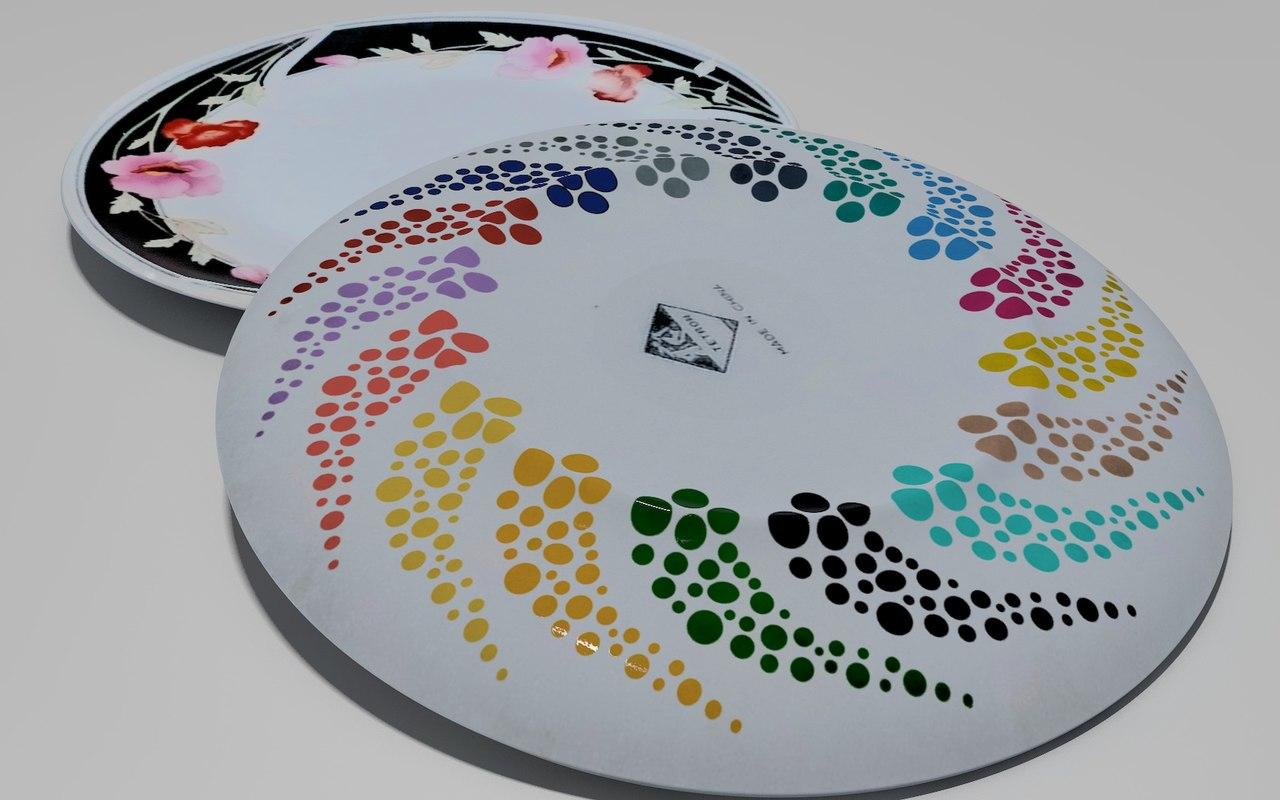3D model plate pbr