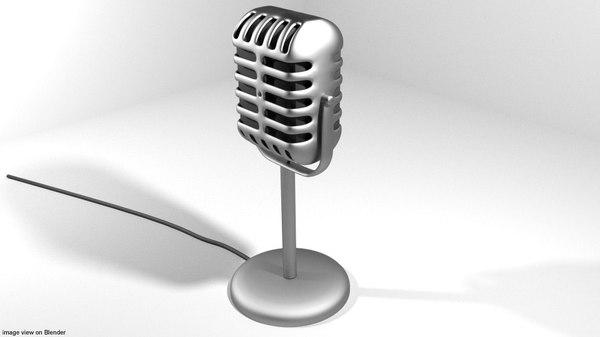 mic microphone 3D model