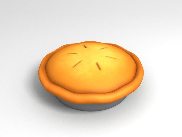 3D food dessert pie model