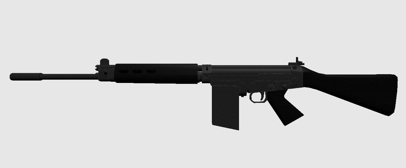 rifle fal 3D model