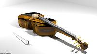 3D instrument music viola model