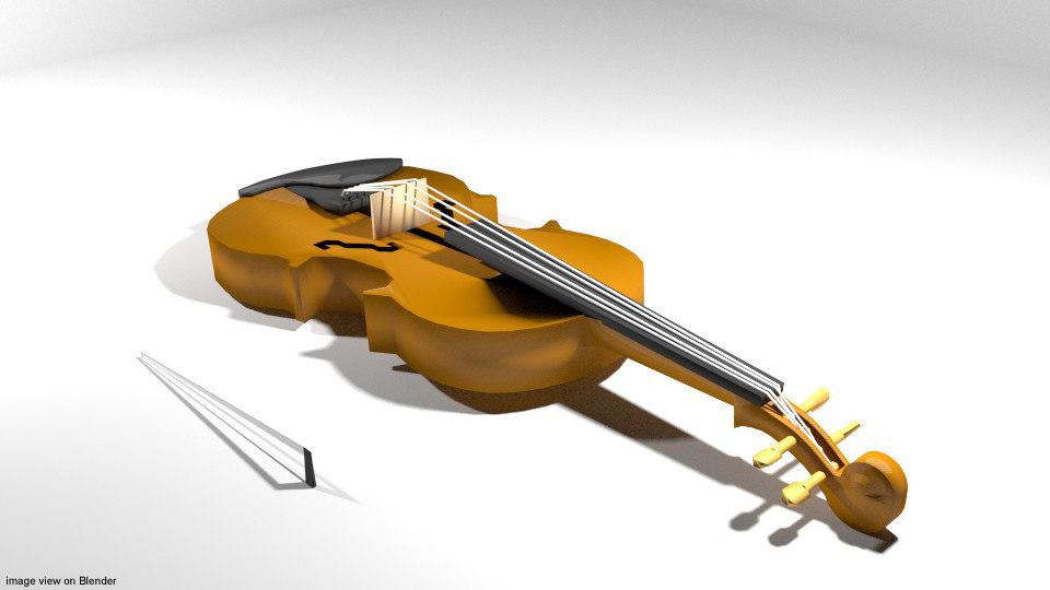 fiddle instrument music 3D model
