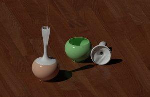 jar 2 pieces 3D model