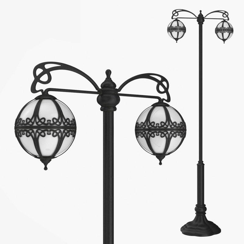 3D street lamp bulbs 0