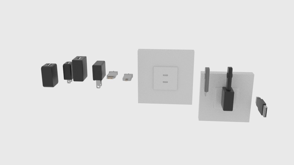 3D model usb pack