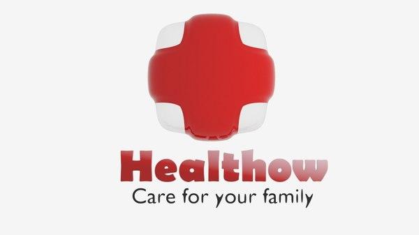 healthow logo 3D