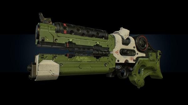 3D ready laser gun pbr