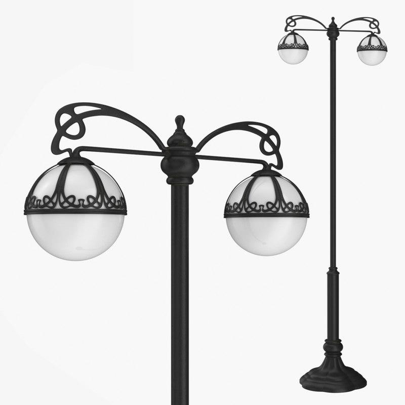 street lamp bulbs 1 3D
