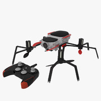 3D drone quadrocopter spider