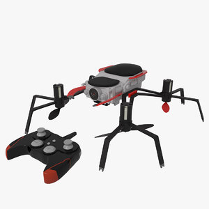3D drone quadrocopter spider