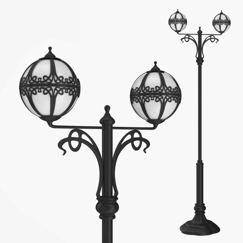 street lamp bulbs 0 3D model
