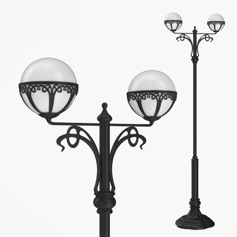 3D model street lamp bulbs 1