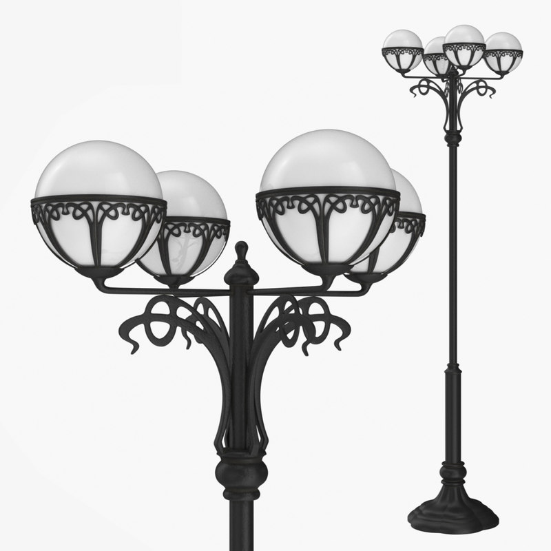 3D street lamp bulbs 1