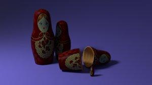 3D model toy matryoshka