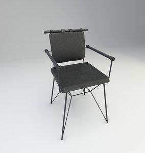 3D wood furniture model