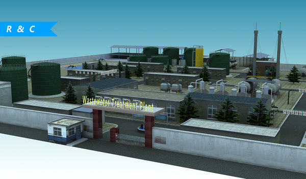3D wastewater treatment plant
