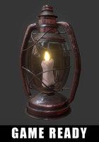 oil lantern ready 3D model