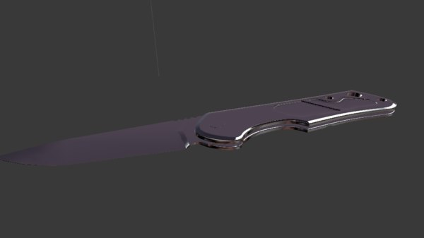 3D model knife weapon