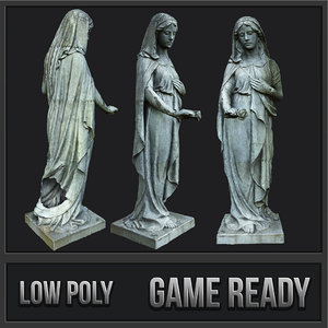 statue sorrow pbr 3D model