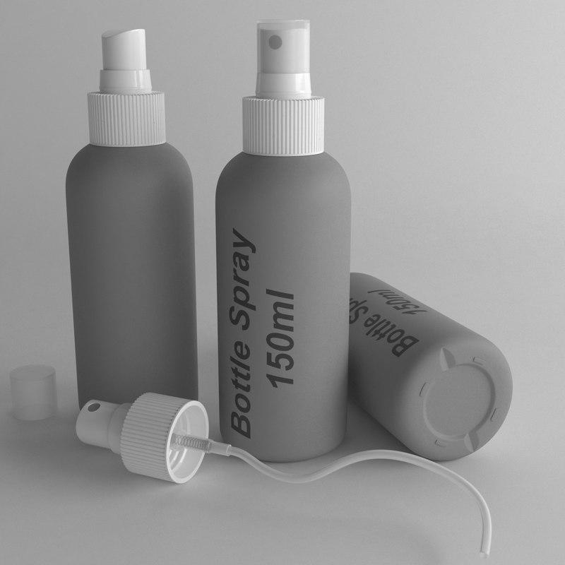 bottle 150ml spray 3D model