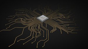 electronic chip circuit 3D