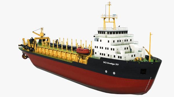 dredger vessel dci dredge 3D model