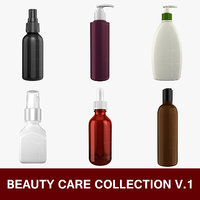 3D products beauty care bottle model