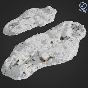 scanned rock cliff e 3D